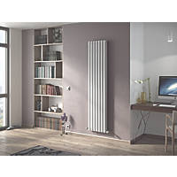 Ximax Fortuna Vertical Double-Panel Designer Radiator White 1800 x 294mm