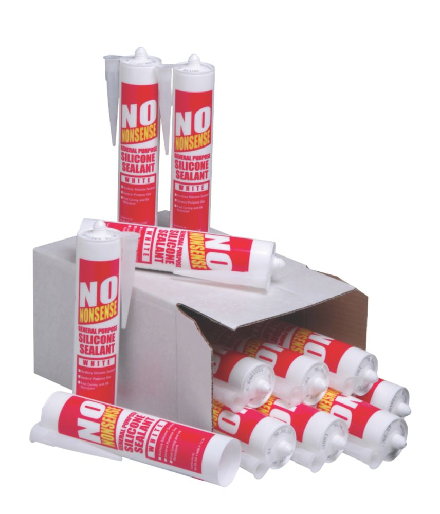 No Nonsense GP Silicone White 310ml Pack of 12