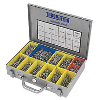 TurboUltra Woodscrews General Trade Case Double Self Countersunk 1400 Pcs