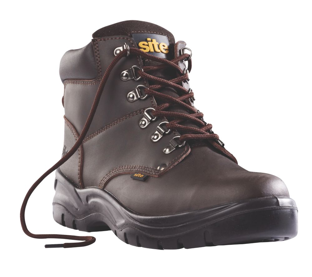 Site Stone Hiker Safety Boots Brown Size 12