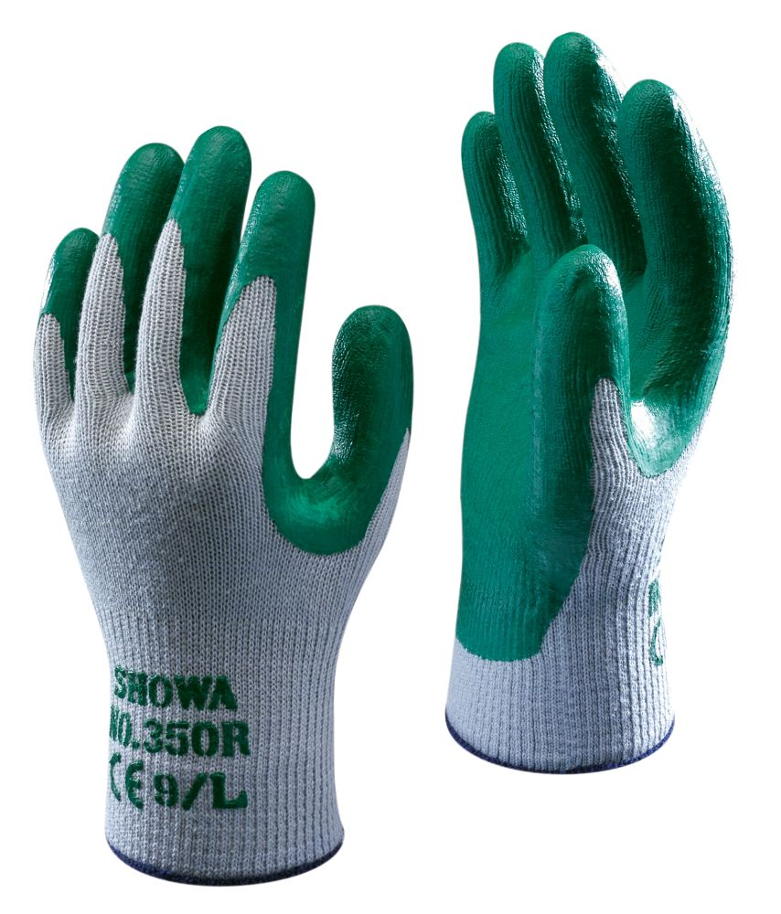 Showa Best 350R Thornmaster Nitrile Grip Gloves Green Medium