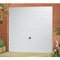 "Horizon 7' x 6' 6 "" Frameless Steel Garage Door White"