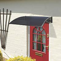 Greenhurst Easy Fit Door Canopy Black 1200 x 800 x 230mm