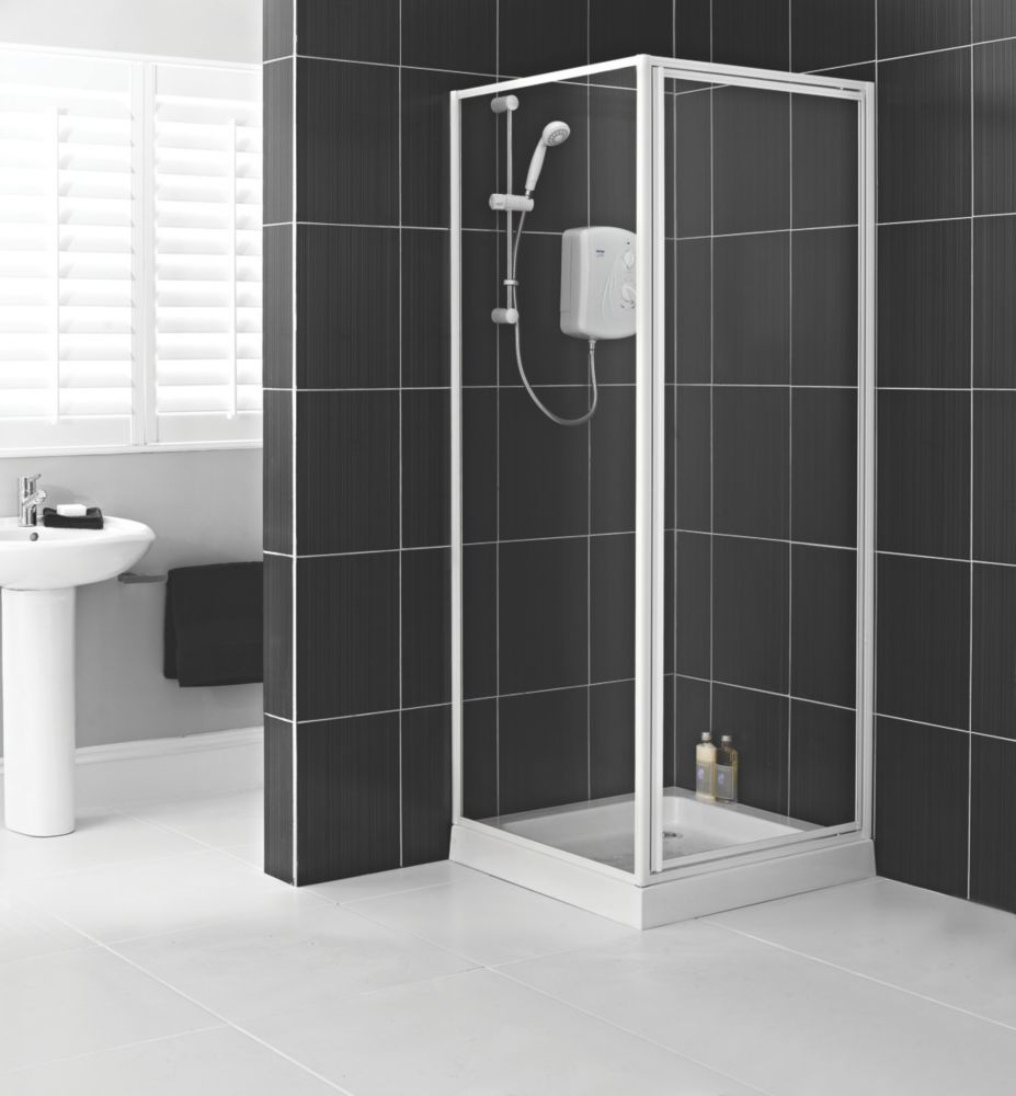 DD Aqualux Pivot 760 Shower Encl and Tray
