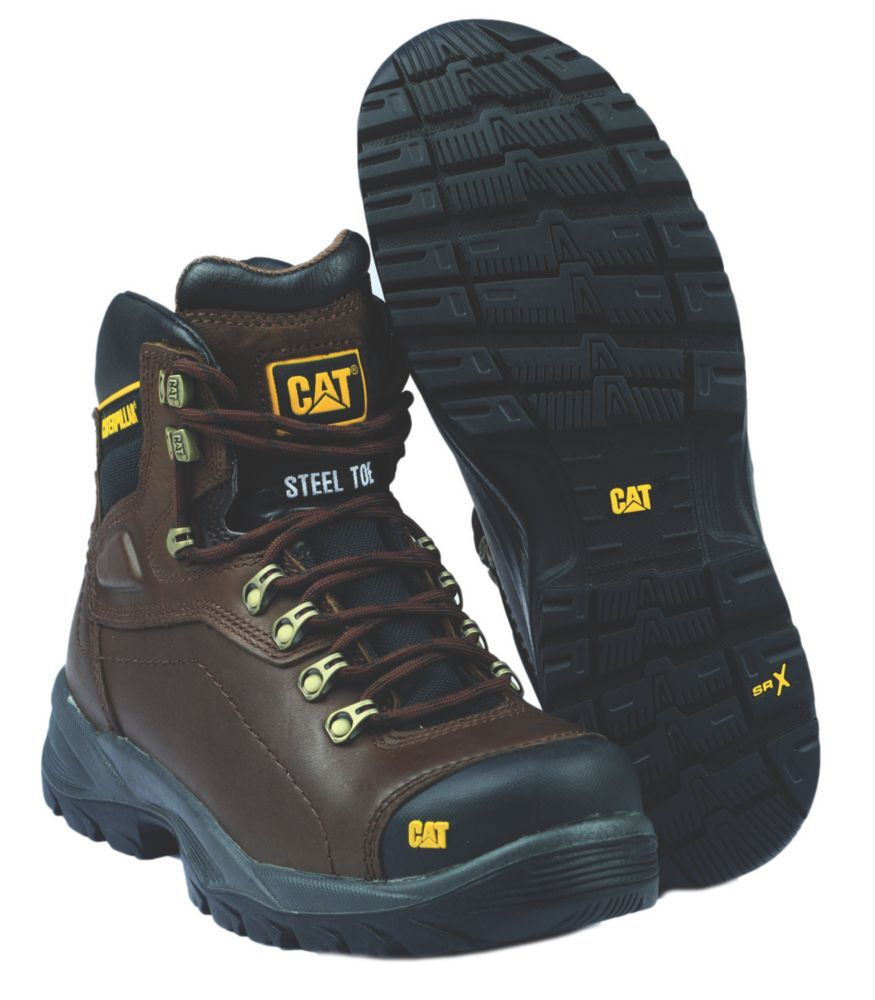 Caterpillar Diagnostic Brown Safety Boots Size 6
