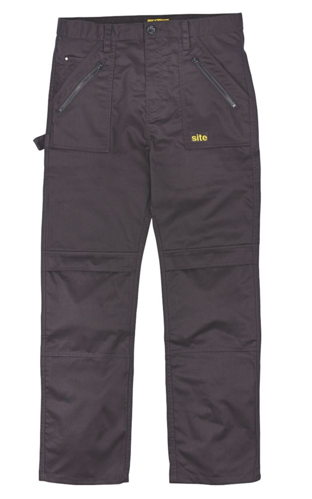 "Site Beagle Trousers Black 36"" W 32"" L"