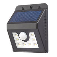 Draco LED Solar Wall Light with PIR Matt Black