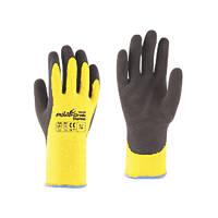 Towa PowerGrab Thermo Thermal Grip Gloves Black / Yellow Medium