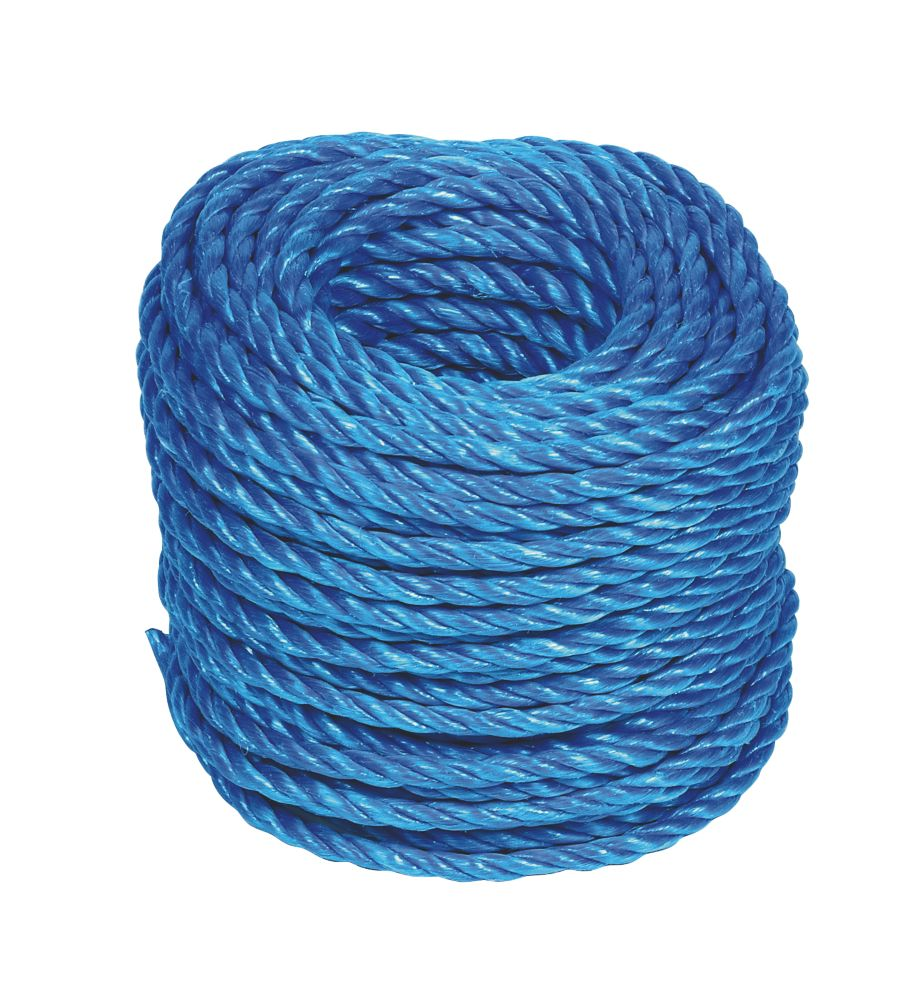Blue Stranded PP Rope 6mm x 30m