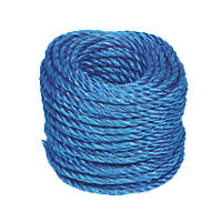 Stranded Polypropylene Rope Blue 6mm x 30m