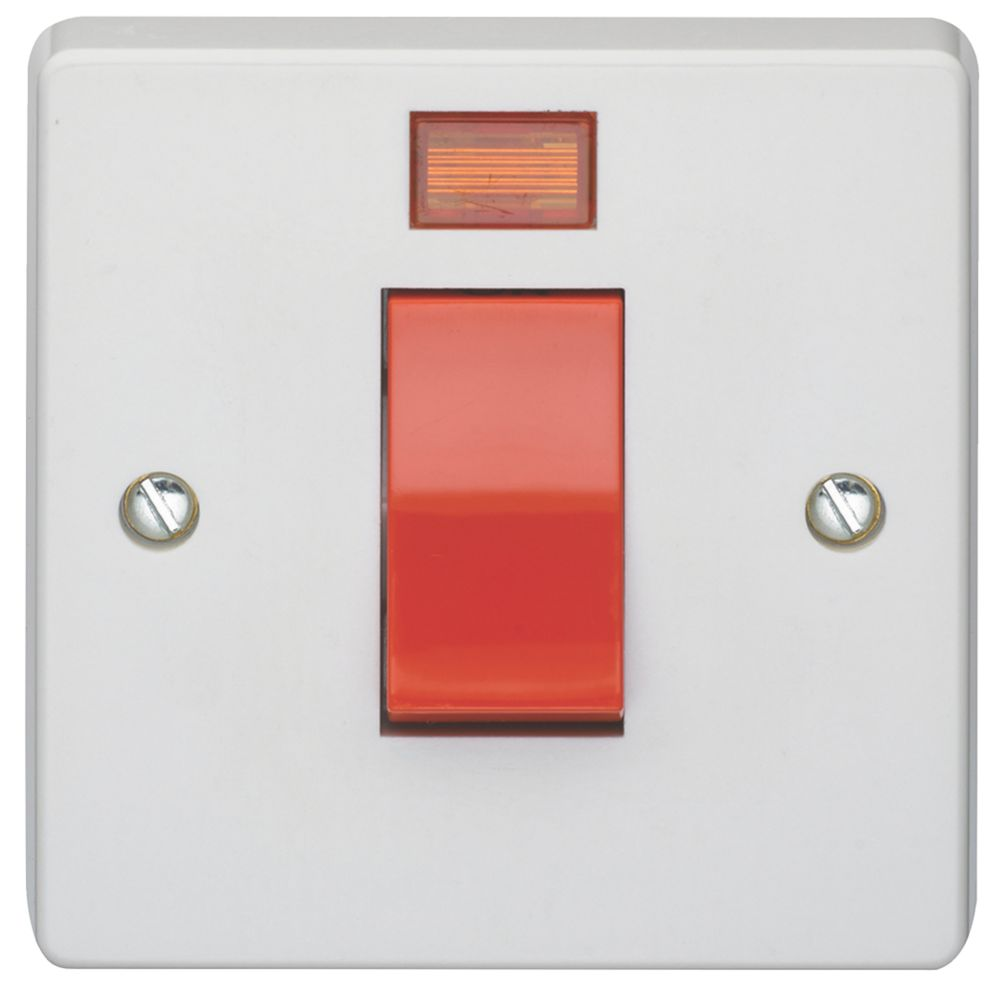 Crabtree 45A DP Switch & Neon