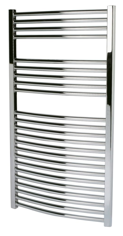 Kudox Curved Towel Radiator Chrome 600 x 1100mm 403W 1375Btu