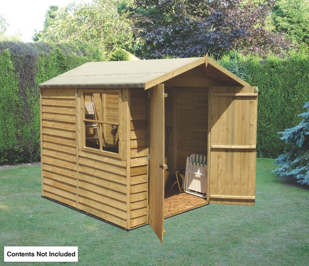 Shire Overlap Double Door Apex Shed 7 x 7 x 7' (Nominal)