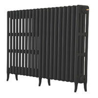 Arroll Neo-Classic 4-Column Cast Iron Radiator Black Primer 760 x 1114mm