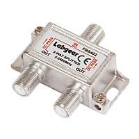 Labgear 2-Way Splitter with Power Pass All Ports