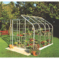 "Halls Supreme 86 Aluminium Greenhouse Toughened Glass 6' 3"" x 8' 4"""