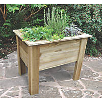 Forest Rectangular Deep Root Planter Natural Wood 1000 x 700 x 798mm 2 Pack
