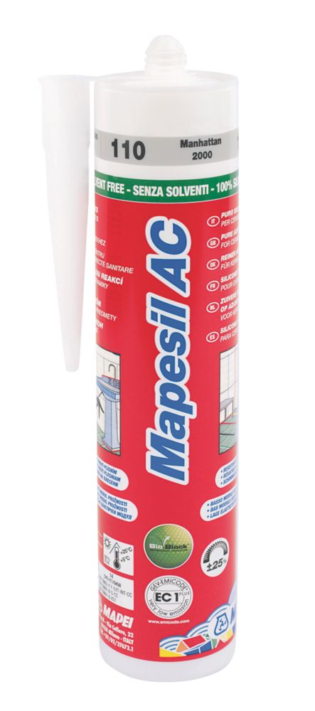 Mapesil Sealant Manhattan Mid Grey 310ml