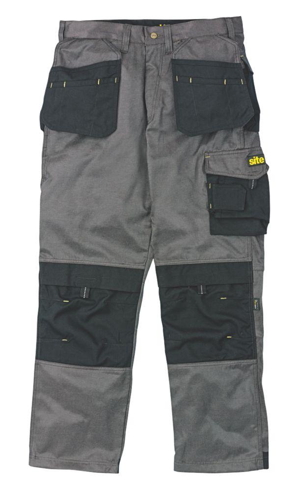 """Site Retriever Trousers Dark Grey 34"""" W 32"""" L"""