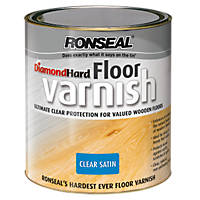 Ronseal Diamond Hard Floor Varnish Satin 2.5Ltr