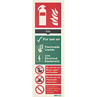 Nite-Glo CO2 Extinguisher Sign 300 x 100mm