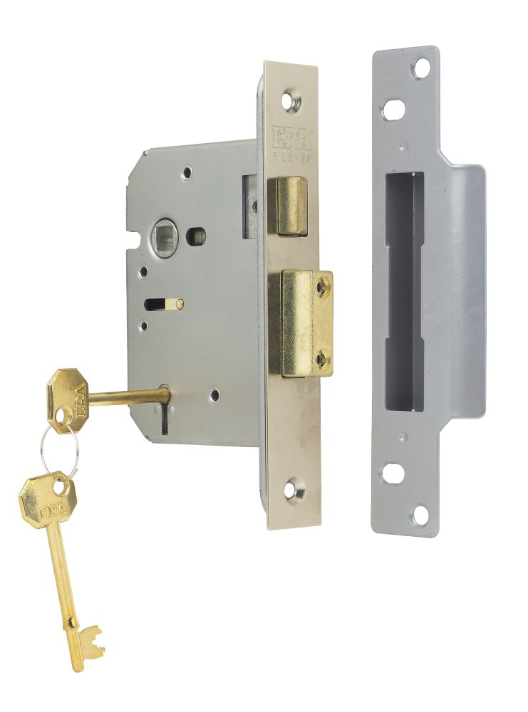 "ERA 5-Lever Mortice Sashlock Steel Satin Nickel 3"" (76mm)"