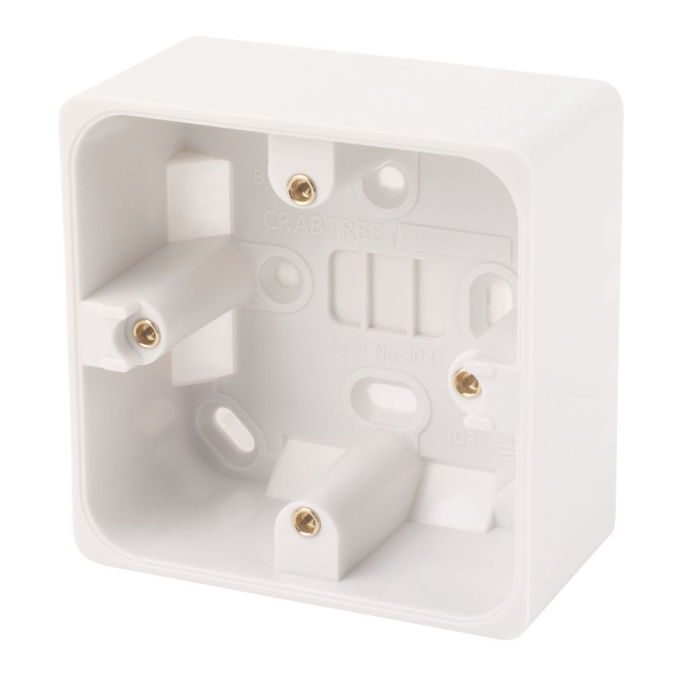 Crabtree 1-Gang 44mm Moulded Box