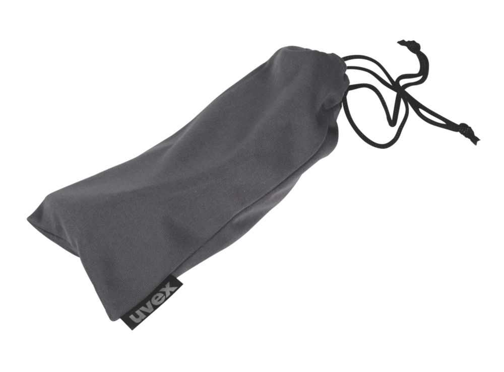 Uvex Drawstring Spectacle Bag Dark Charcoal
