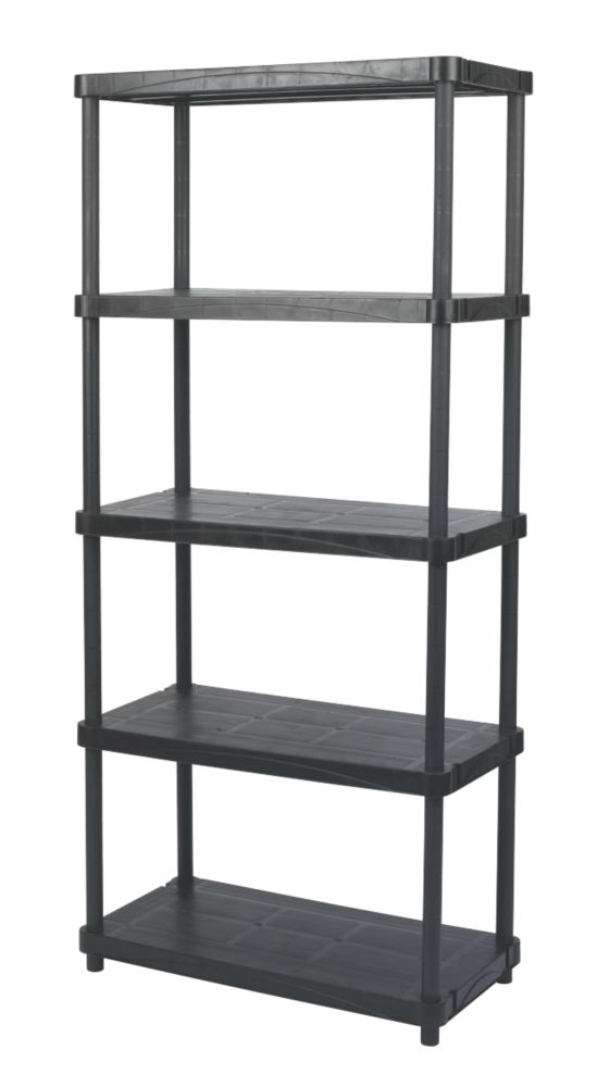 Solid Plastic Shelving with 200kg Shelf Capacity 5-Tier