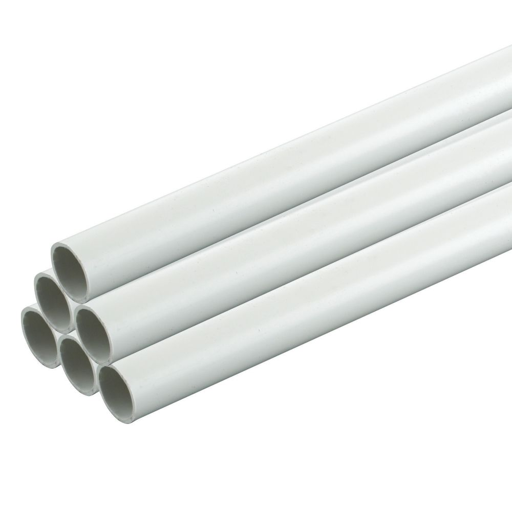 Tower Conduit Heavy Gauge 20mm x 2m White (40m) Pack of 20