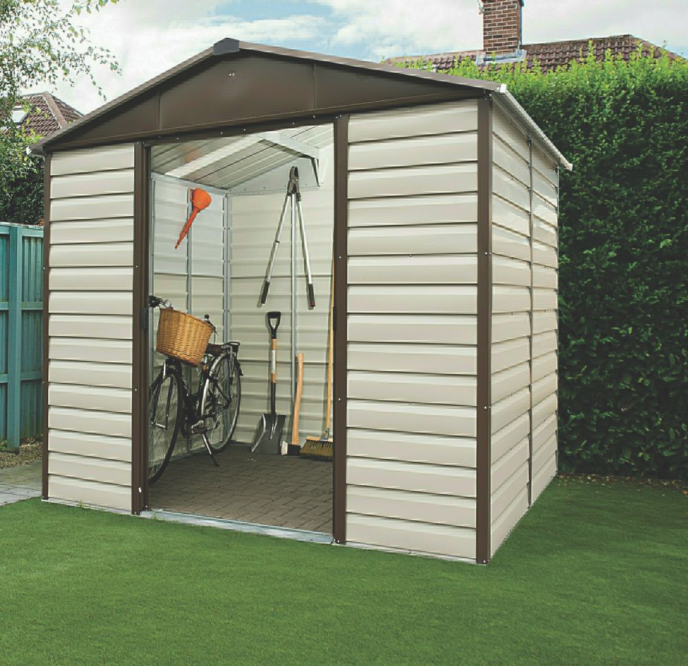 "Yardmaster Shiplap Sliding Door Apex Shed 7'11"" x 6'6"" x 7'1"""