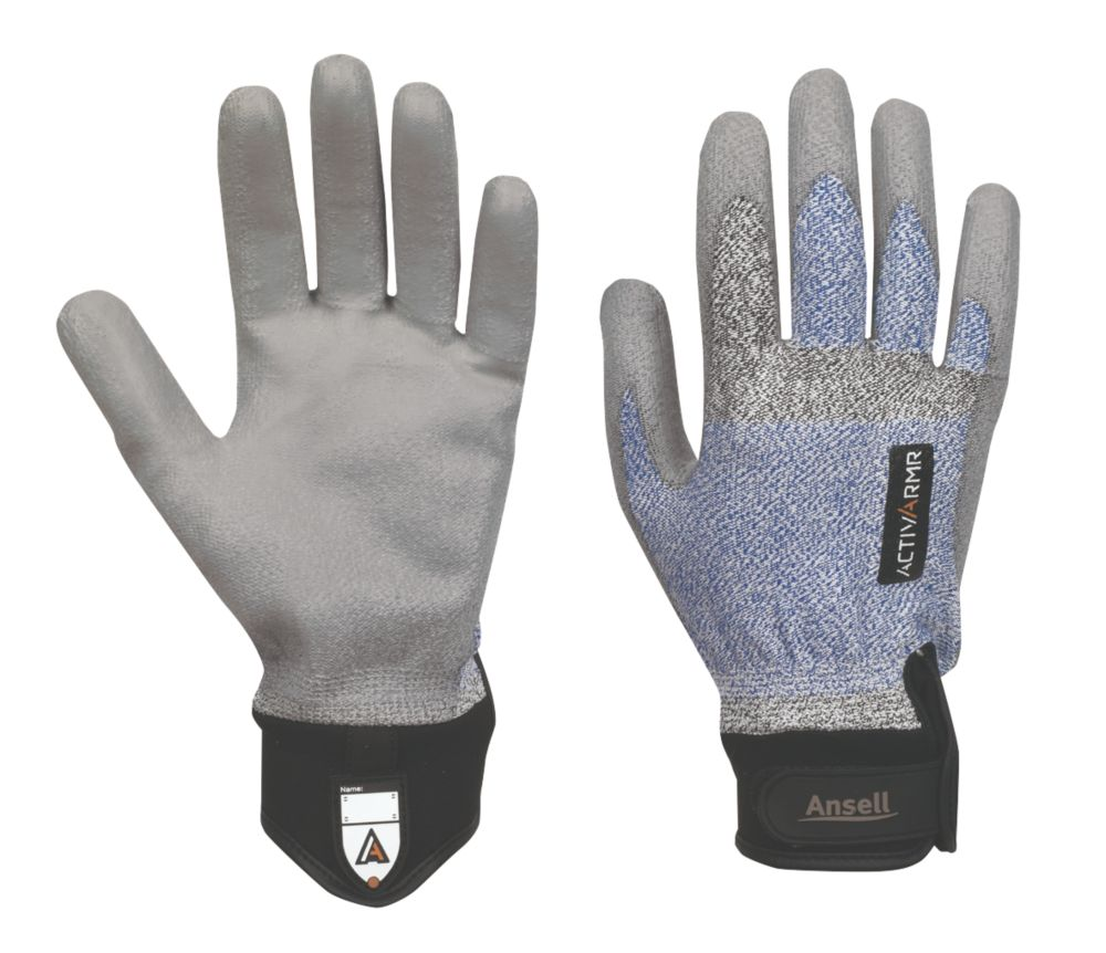 Ansell ActivArmr Specialist Handling Electricians Gloves Grey Large