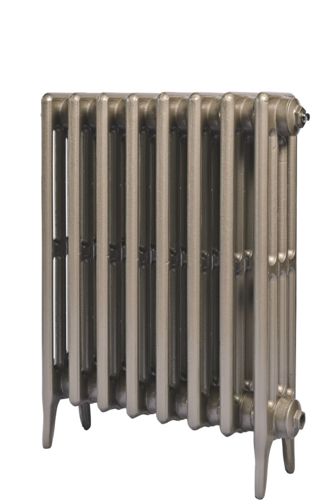 Cast Iron 660 Designer Radiator 4-Column Bronze H: 660 x W: 521mm