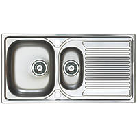 Astracast Aegean Reversible Inset Sink Stainless Steel 1.5 Bowl 965 x 500mm