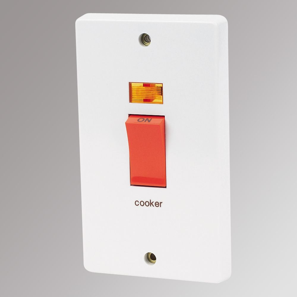 Crabtree Cooker Switch 2-Gang 50A