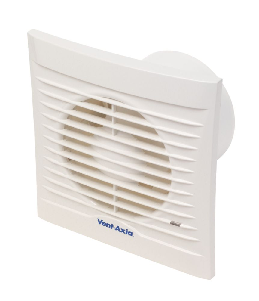 Vent-Axia Silhouette 100T Axial Bathroom Timer Extractor Fan 16W