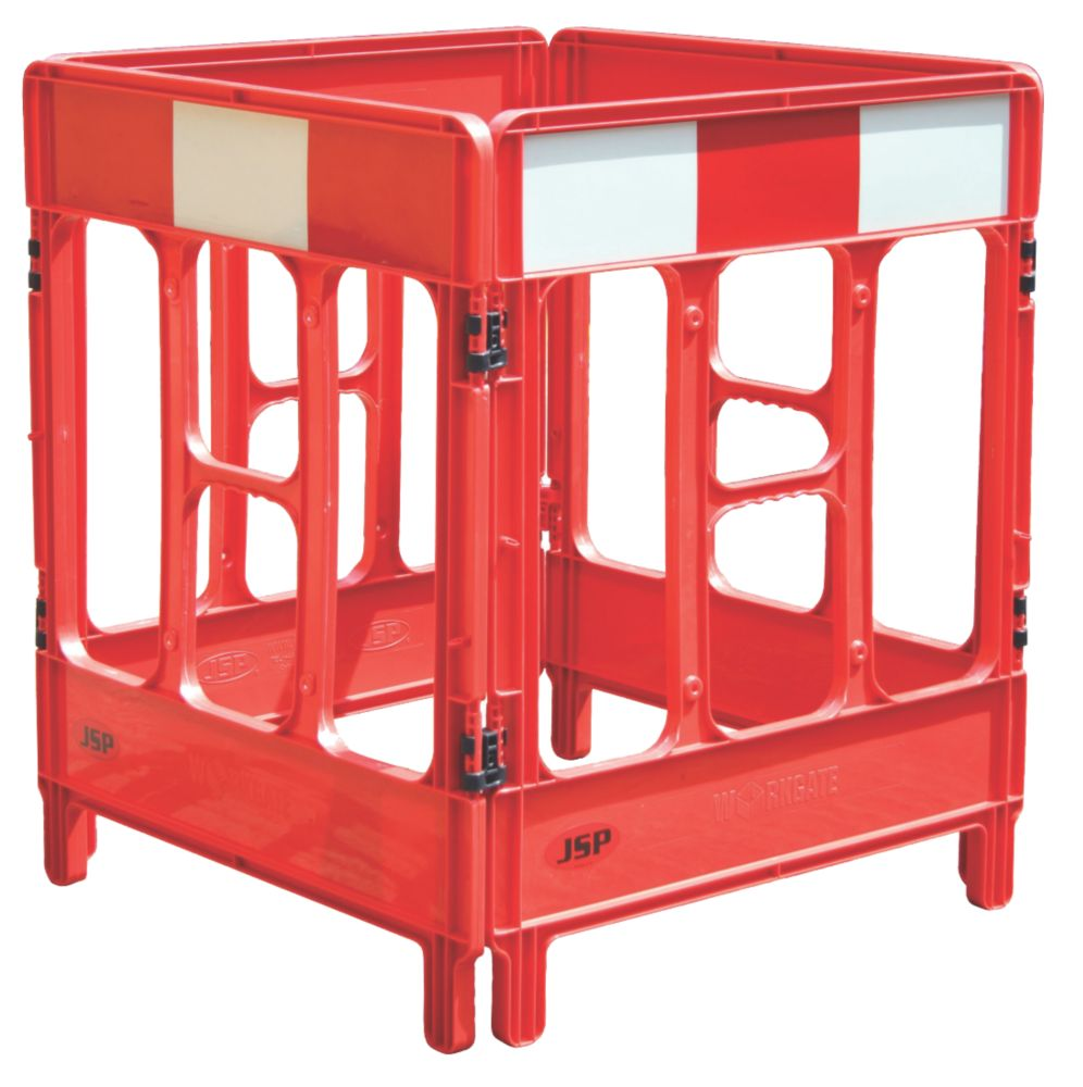 JSP 4-Gate Workgate Barrier Red