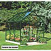 "DIY Doctor: Screwfix: Buy tools: Halls Popular Framed Greenhouse Green 5' 10"" x 5' 10"