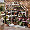 "DIY Doctor: Screwfix: Buy tools: Halls Supreme Wall Garden Greenhouse Aluminium 6' 3"" x 2' 4"" x 6' 10"
