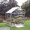 "DIY Doctor: Screwfix: Buy tools: Halls Popular Framed Greenhouse Aluminium 5' 10"" x 3' 6"