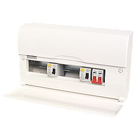 10 Way High Integrity Insulated Consumer Unit Dual 63A and 80A RCD