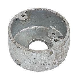 1 Hole 20mm Galvanised Loop In Conduit Box