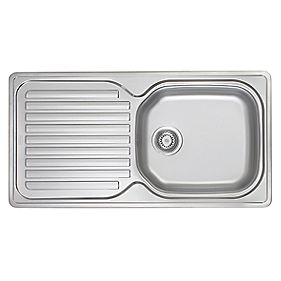 Screwfix Franke Sink : Franke Inset Kitchen Sink Stainless Steel 1-Bowl 965 x 500mm ...