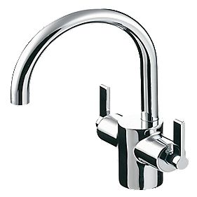 Ideal Standard Silver Mono Basin Mixer Tap with Pop-Up Waste