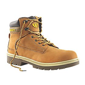 Worksite Scaffold Safety Boots Dark Honey Size 8