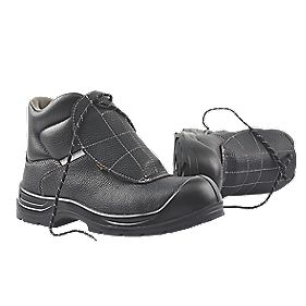 Worksite Industrial Wear Armadillo Metatarsal Safety Boots Black Size 8