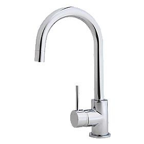 Swirl Sink-Mounted Side Lever Mono Mixer Kitchen Tap