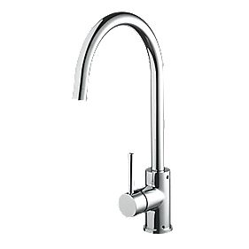 Bristan Sink-Mounted with Swivel Spout EasyFit Pistachio Mono Mixer Kitchen Tap Chrome