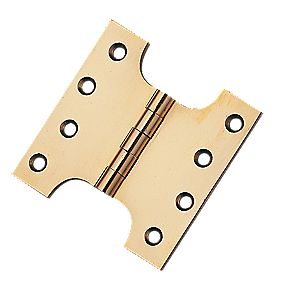 Eclipse Parliament Hinge Polished Brass 102 x 102mm Pack of 2