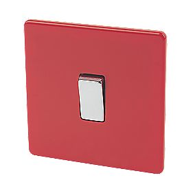 Varilight 1-Gang 2-Way 10A Switch Claret Red